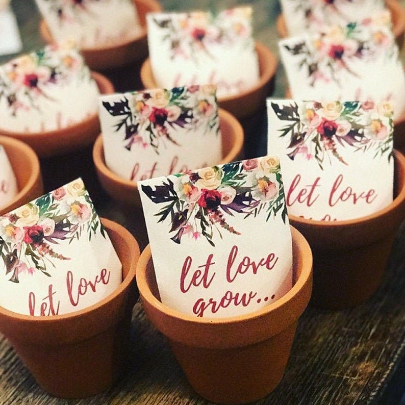 Let Love Grow Custom Seed Wedding Favors Personalized SEALED image 0