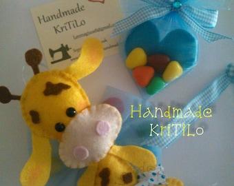 Giraffe baby Favor HandmadeKriTiLo birth