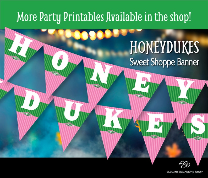 image relating to Honeydukes Sign Printable known as Honeydukes influenced Printable Banner for Do-it-yourself Printable Harry Potter Halloween Celebration