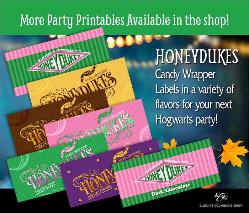 photo regarding Honeydukes Sign Printable identify Harry Potter Hogwarts encouraged Halloween Get together Do it yourself Printable Sweet Bar Wrappers