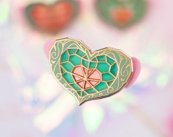 Twilight Princess Heart Pieces - Stained Glass Pin
