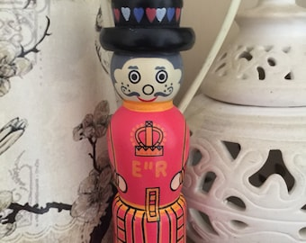 Handmade wooden 'Beefeater' knitting nancy/French knitting dolly.