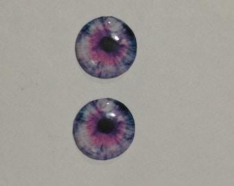 "Handmade resin eye chips 14mm for blythe dolls 'Purple/pink' horror eyes  for 12""blythe dolls or furby"