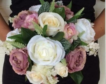 "The ""Hazel"" Artificial Flowers Wedding Bouquet"