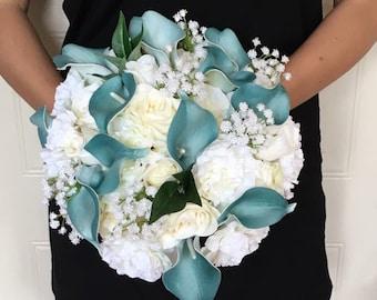 """The """"Gemma"""" Artificial Flowers Wedding Bouquet"""