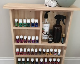 Unfinished Essential Oil Storage, Wall Essential Oil Storage Shelf, Bathroom Shelf, Essential Oil Cabinet, Unfinished Oil Shelf