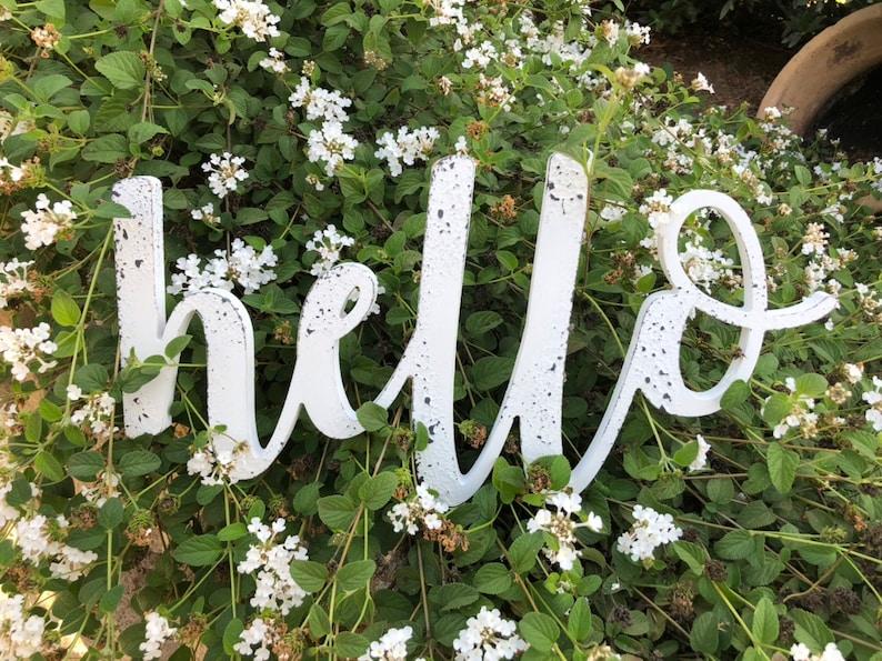 Hello Cutout Sign Wooden Word Cutout Hello Sign