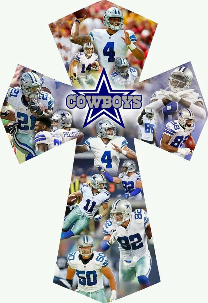 Collage cross Dallas Cowboys 16x11