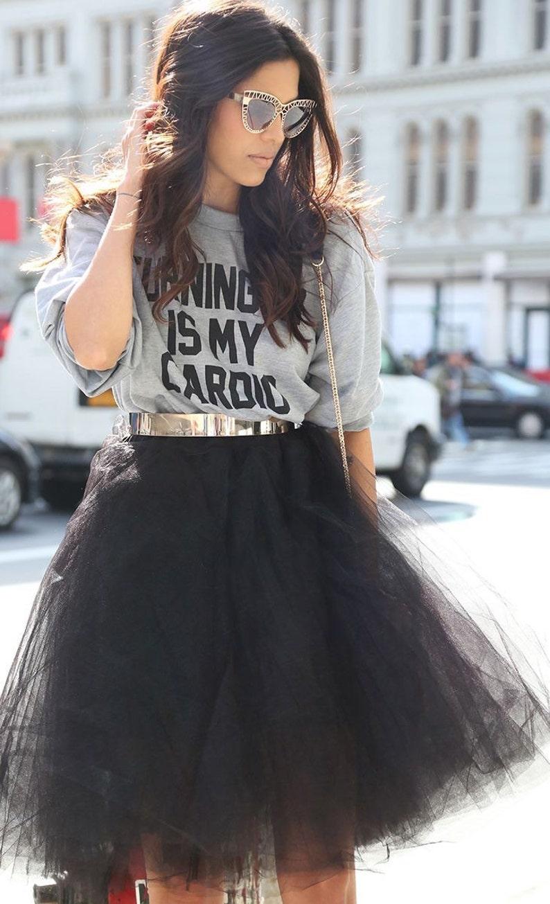 257a6dede4 Black Tulle Skirt Bridesmaid Flower Girl Wedding Dress Tutu | Etsy