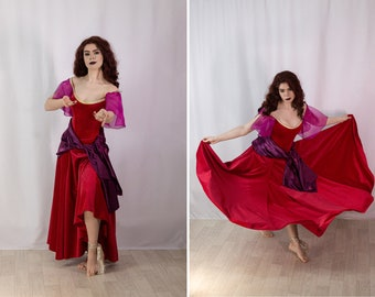 Inspired by Esmeralda red dress from The Hunchback of Notre-Dame - Halloween costume for Adult