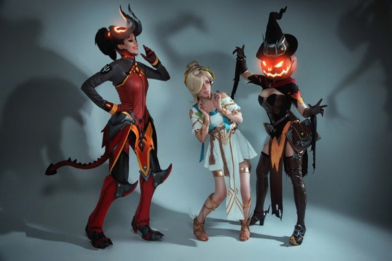 Details about  /Halloween New Mercy Hero Winged Victory Cosplay Costume Game OW Adult Costume