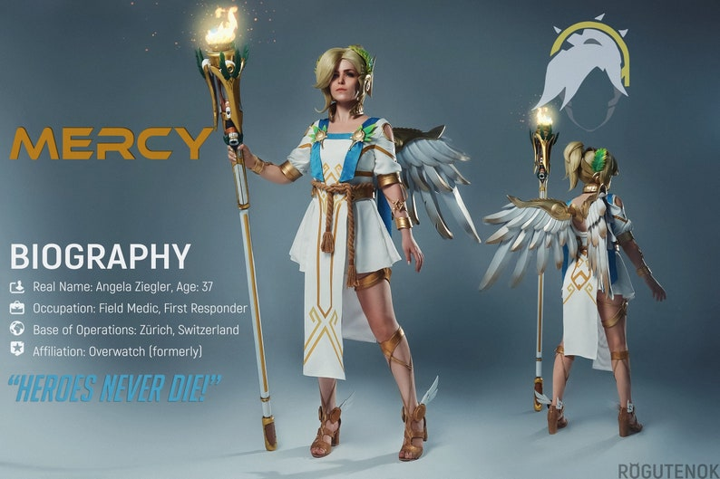 Mercy Winged Victory costume inspire Overwatch cosplay - Halloween costume  for Adult