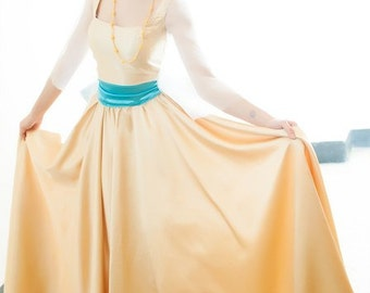 Anastasia dress inspire of Anastasia, Gold Dress -  Halloween costume for Adult