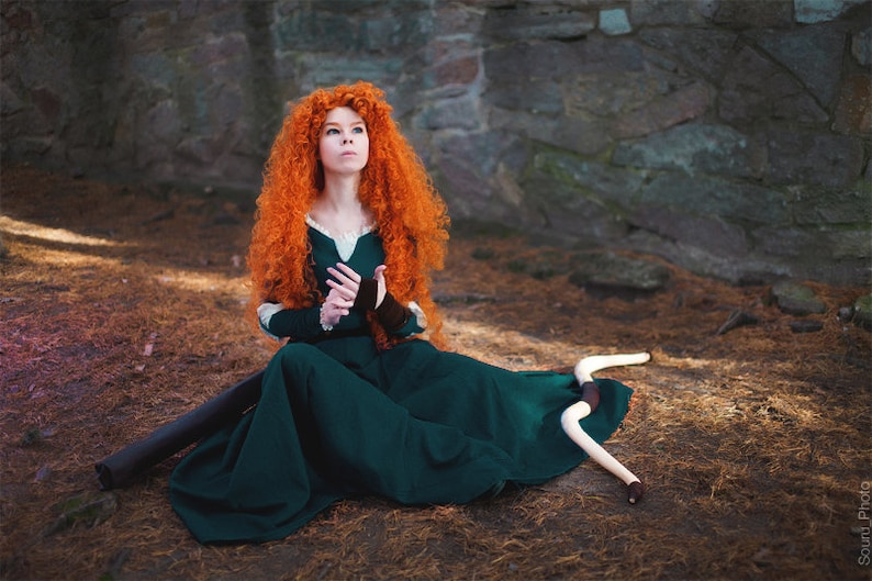 Merida Dress Inspired Brave Cosplay Halloween Costume For Etsy