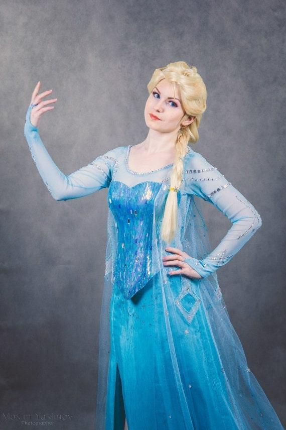 Elsa Cosplay Frozen Halloween Costume For Adult Etsy