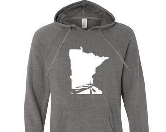 Canoe Minnesota Hoodie