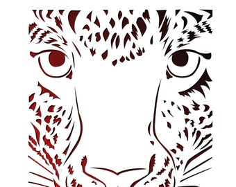 tiger paper cutting template tiger papercut tiger cut out tiger cutting tiger template pdf svg commercial personal use pt 036