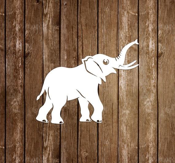 elephant paper cutting template elephant papercut elephant etsy