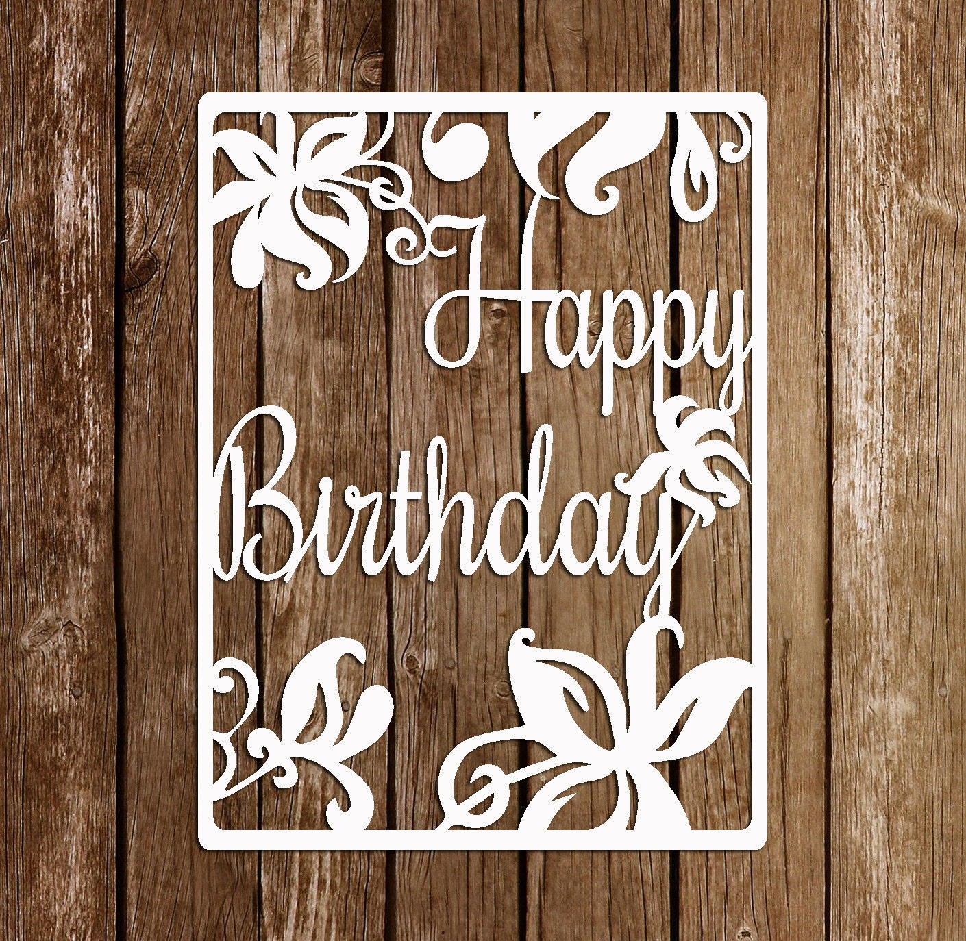 Paper Cutting Template Papercut Birthday template PDF SVG ...