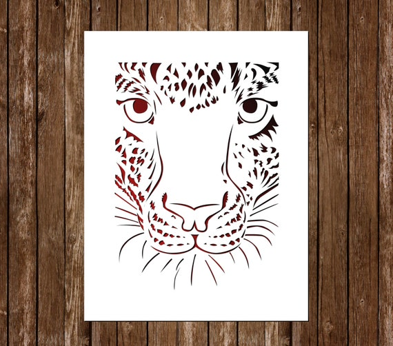 tiger paper cutting template tiger papercut tiger cut out
