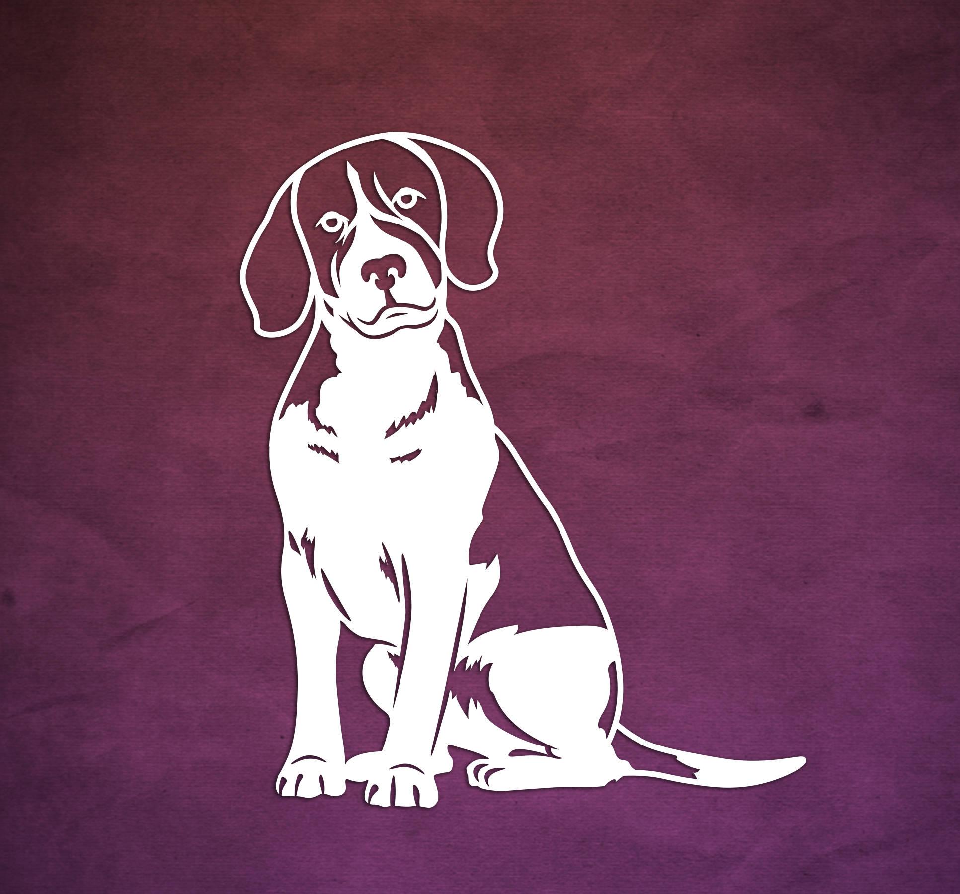 Beagle Paper Cut Template Dog Papercut Templates Paper | Etsy