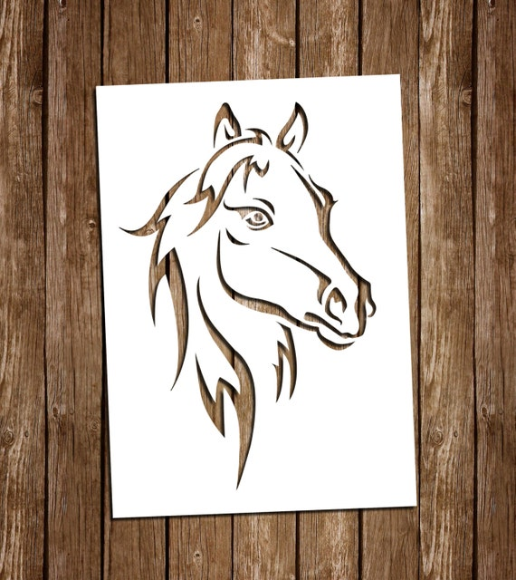 horse svg cutting files pdf paper cutting template horse etsy