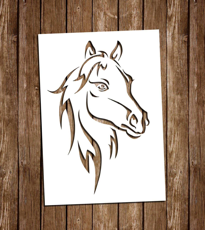 horse svg cutting files  pdf paper cutting template  horse