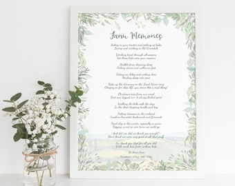 Personalised Poem Print - Showcase your personalised words, wedding vows or remembrance reading
