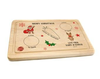Santa Treat Board Christmas Eve Board Santa Treats Santa Plate Christmas Eve Rustic Christmas Treats for Santa 1st Christmas Cookie Plate