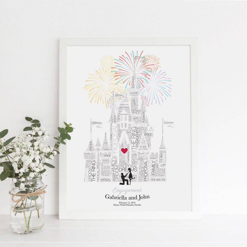 Disney Engagement Proposal Disney Wedding Paper Anniversary image 0