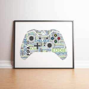 Personalised Xbox Controller Print Gaming Birthday Gifts Etsy