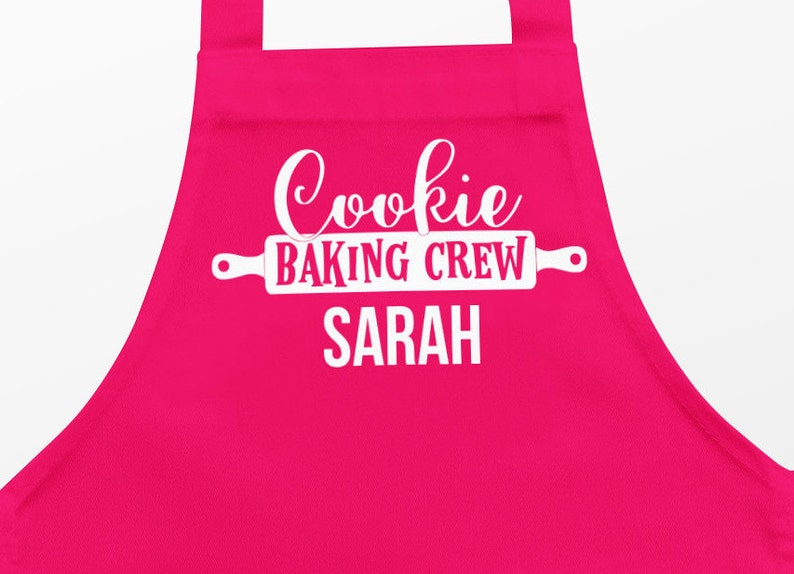 Children's personalised apron Childs  apron Christmas Red