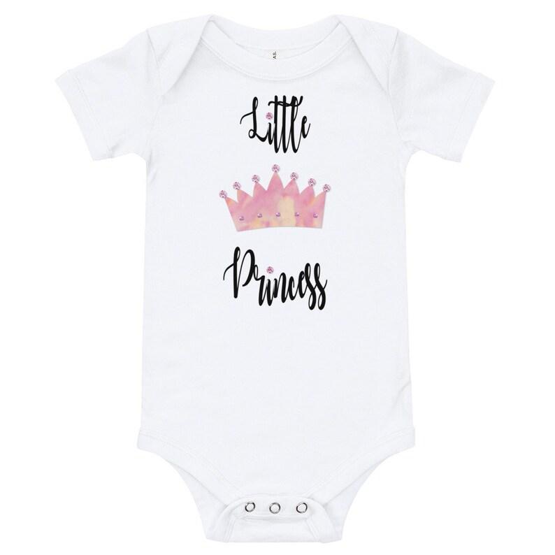 011444a85c6 Baby Onsie Short Sleeve Bodysuit White, Infant Romper Princess, Baby Girl  Princess Onesie, Princess Clothing Gift Baby Girl,
