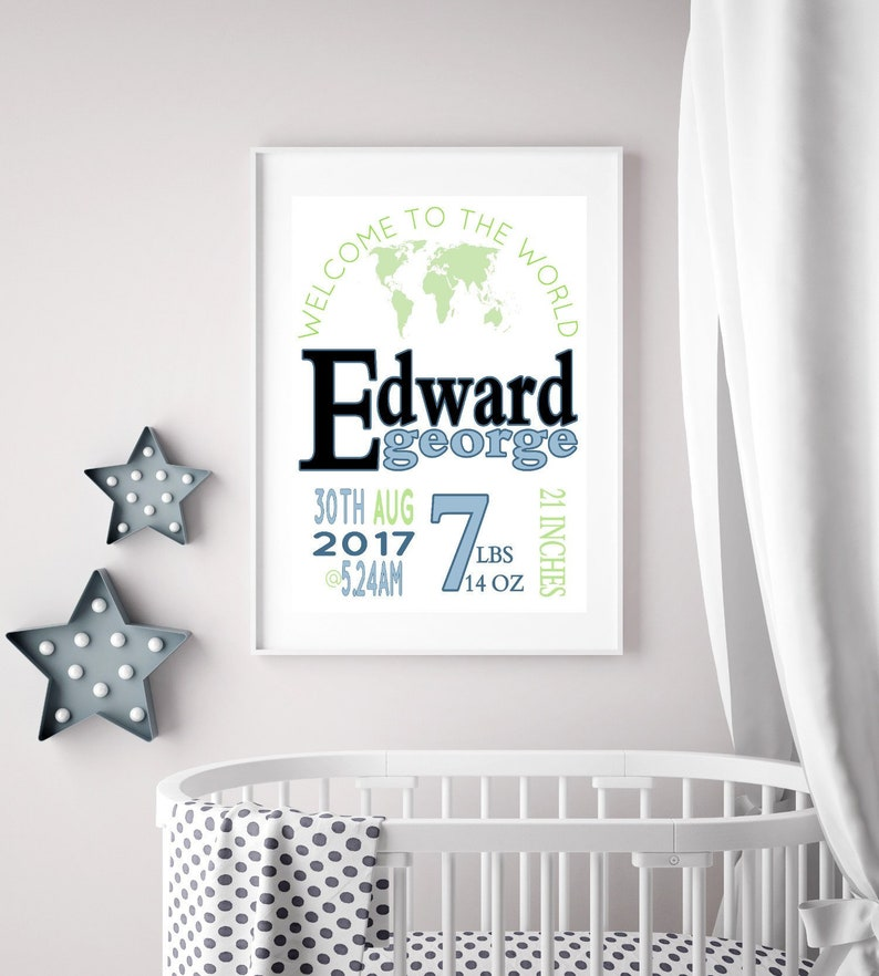 Baby Boy Birth Stats Welcome to the World Print, Baby Birth Stats, Baby  Blue Nursery Birth Stats, Baby Stats, Welcome Baby Announcement