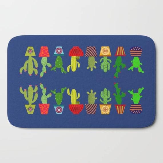 kaktus badematte cacto badezimmer dekor kakteen etsy. Black Bedroom Furniture Sets. Home Design Ideas