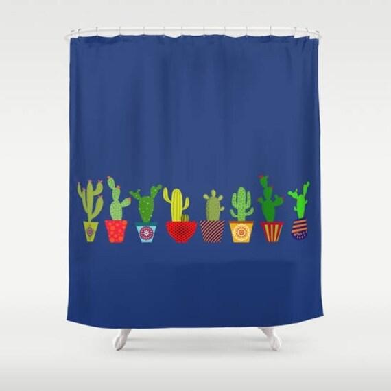 Cactus Shower Curtain Cacti Cacto Cool