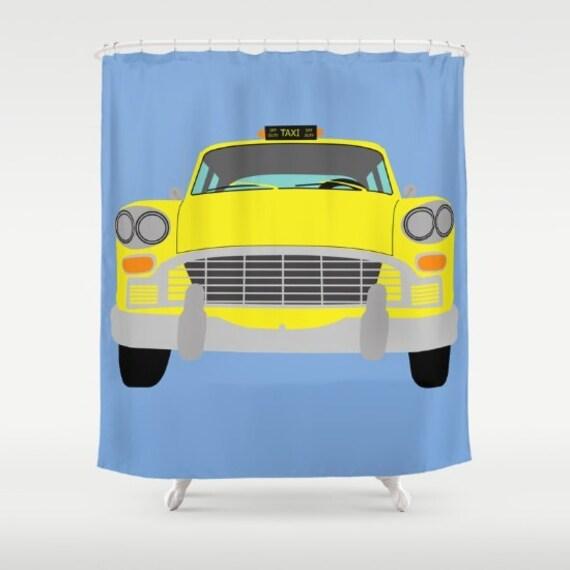 New York Taxi jaune douche Manhattan-Rideau cabine douche
