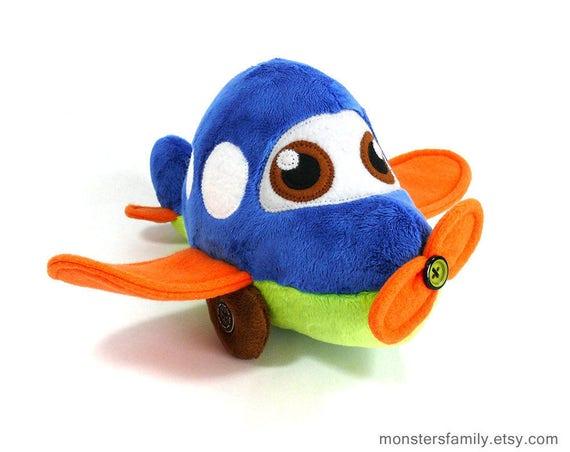 Avion en peluche peluche jouet avion jouet en peluche douce avion bébé jouet Pâques panier doudou bébé garçon chambre d'enfant chambre jouet Baby Shower Gift pour garçon
