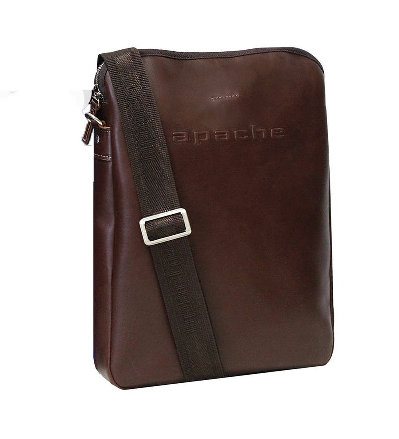 Slim laptop backpack GRANT brown bag Brown leather PC bag Brown leather laptop backpack Brown leather slip backpack Slip PC backpack
