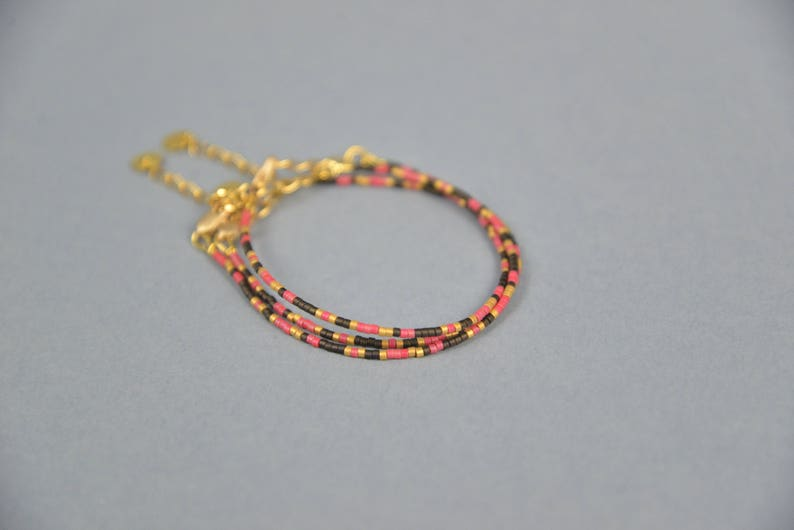 Handmade BRACELET MIYUKI Beads Mars Dust Collection GOLDEN image 0