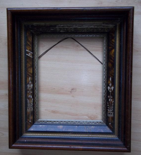 antique eastlake frame with photograph  ebony eastlake frame  deep cove frame  Victorian eastlake frame  victorian framed photograph