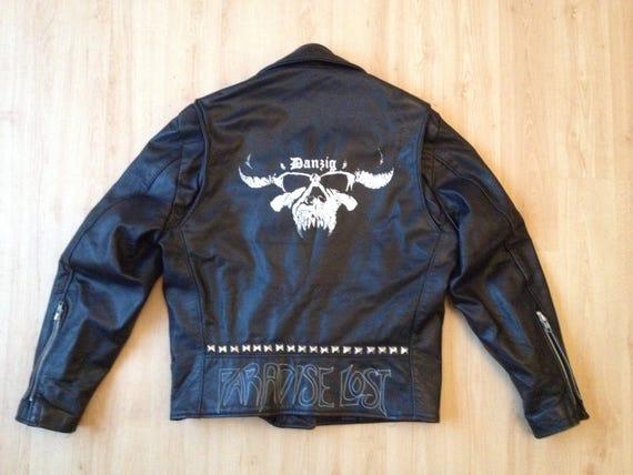 Vintage Leather Jacket Metal Bands Danzig, Paradis