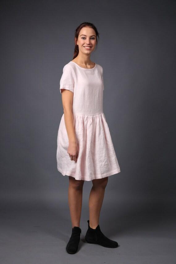 9e0511b2a0 Linen dress Loose linen dress for women Linen tunic Smock