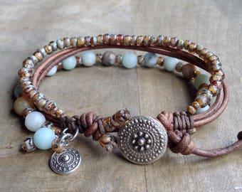 Bohemian bracelet boho chic bracelet boho jewelry gypsy womens jewelry gift for her boho chic jewelry beaded rustic jewelry hippie bracelet