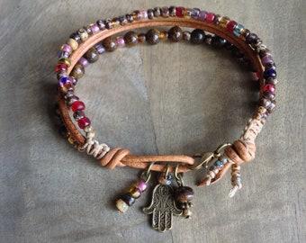 19 cm wrist,Bohemian bracelet gift for her boho bracelet boho chic bracelet womens jewelry hippie bracelet boho chic jewelry beaded bracelet