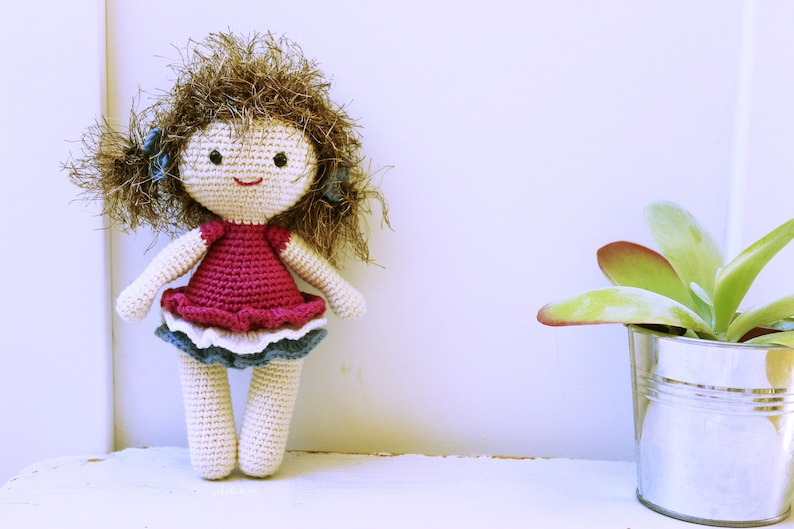 Theresa doll crochet doll pattern crochet doll pattern amigurumi doll pattern