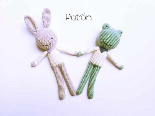 Conejo y Rana Sonrisas Patrón amigurumi ConejoPatrón crochet | Etsy