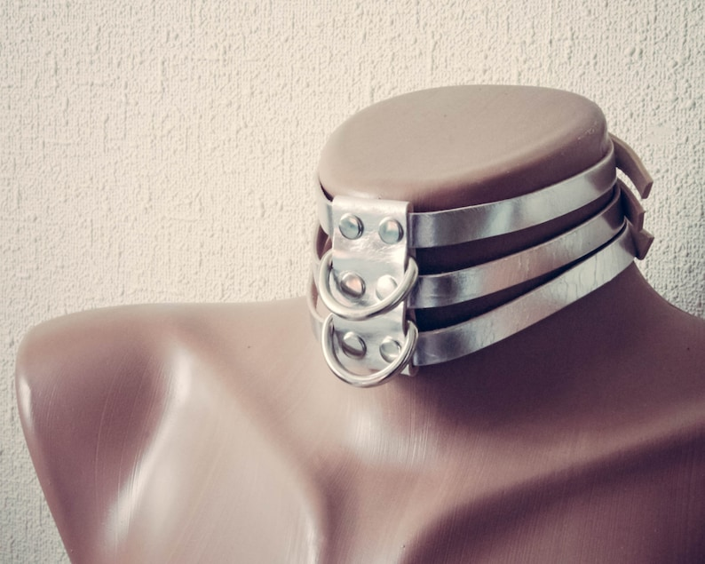 Leather Choker BDSM Collar Bondage Fetish slave sub or sissy image 0