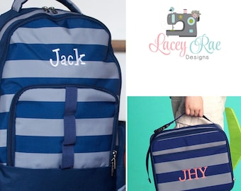 Boys Greyson Personalized Backpack, Lunchbox, Pencil pouch, Preschool  backpack, Monogrammed backpack, School Age Backpack, f69e353977