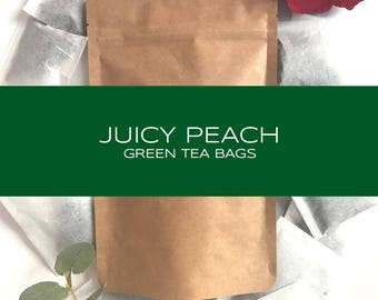 Juicy Peach Green Tea Bags